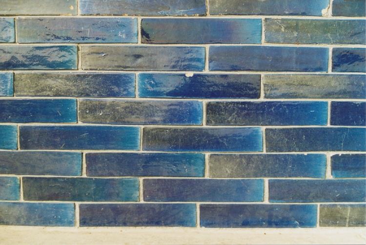 obklad modrý